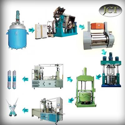 Neutral silicone sealant production line