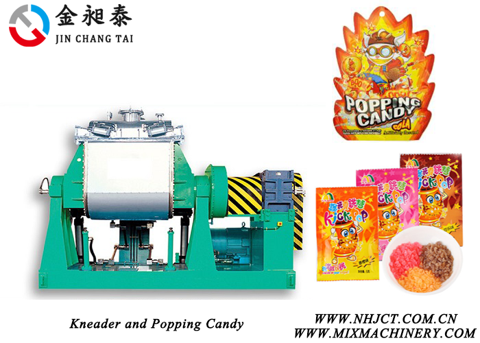 kneader and popping candy