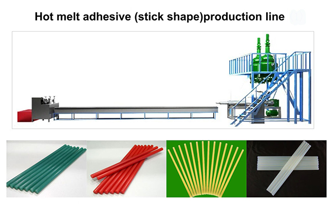 Hot melt adhesive (stick shape) production line