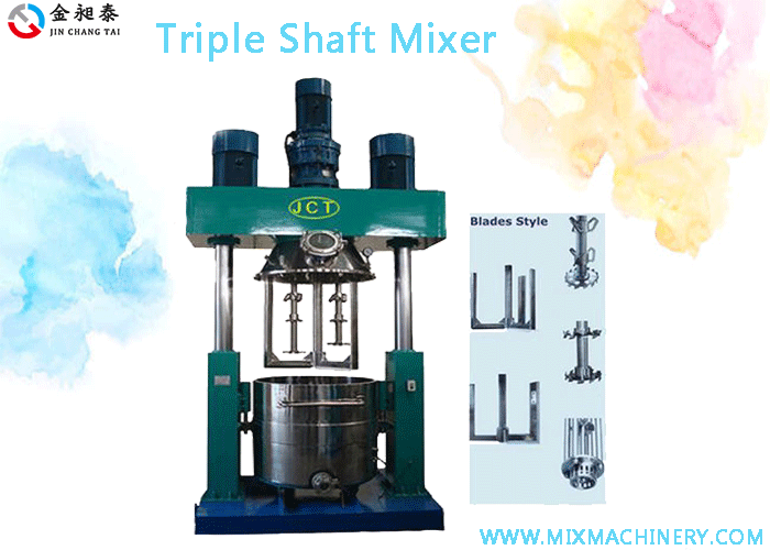 Ttiple shaft mixer