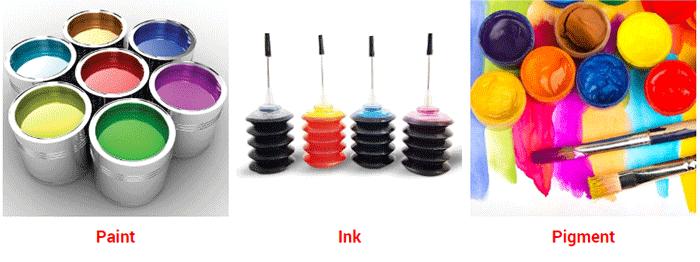 paint  ink  pigment