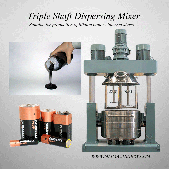 Do you know that the Triple Shaft Dispersing Mixer can produce batteries?