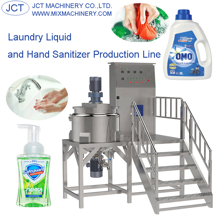 Laundry liquid and hand sanitizer production line