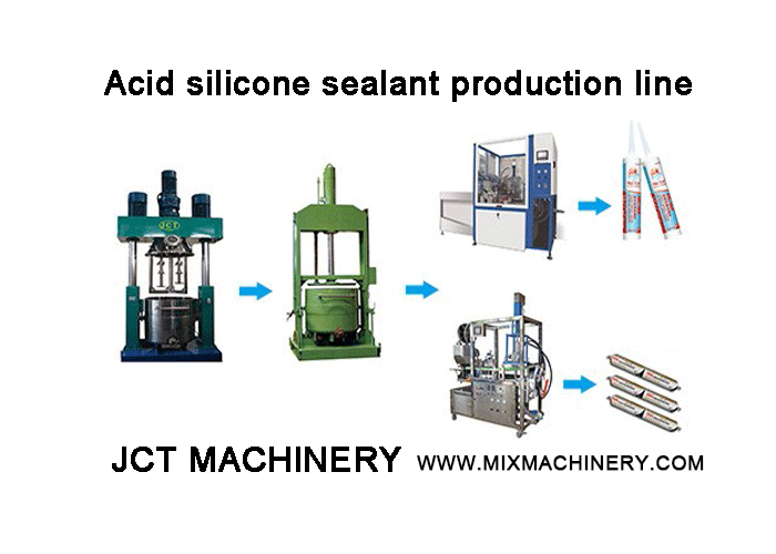 Algeria customers purchase acidic silicone sealant production line