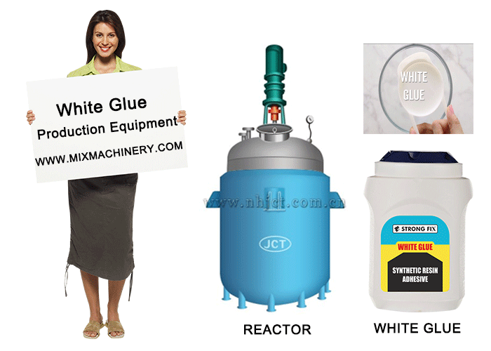 Revealing the production process of white glue