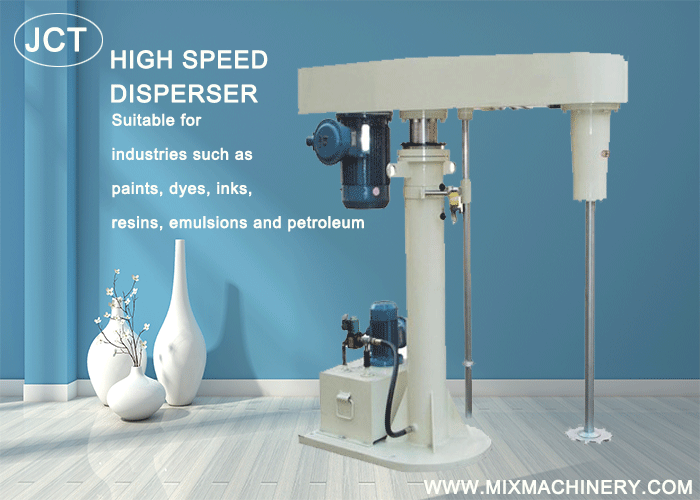 High speed disperser for paint and ink production