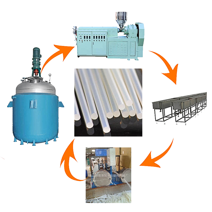 How to produce a rod-shaped hot melt adhesive reactor? Hot